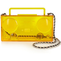 Moschino - Boom Box Perspex shoulder bag