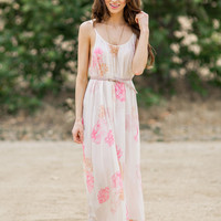Alexis Orange and Pink Floral Maxi Dress