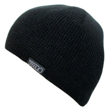 YUTRO Fashion Men's Winter Classic Beanie Wool Hat With Fleece Lining One Size Black