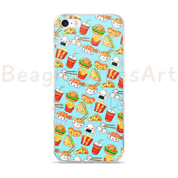 Food Phone Case, Case for iPhone, Colorful Phone Case, iPhone 6 Case, iPhone 5 Case, Kawaii Phone Case, Hamburger Phone Case, Fast Food Case