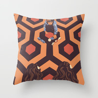 The Shining Room 237 Danny Torrance Throw Pillow by Jane Hazlewood