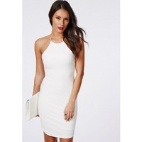 Missguided - Vivian Strappy Bandage Bodycon Dress White