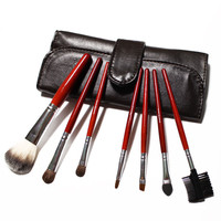 7 Piece Goat Hair Makeup Brush Set