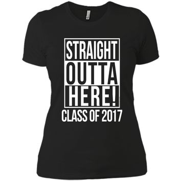 Straight Outta Here Funny Senior Class of 2017 T-Shirt