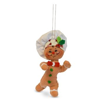 Annalee Dolls 4in 2018 Christmas Gingerbread Chef Ornament New with Box