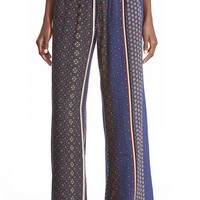 Junior Women's The Hanger Mixed Print Palazzo Pants,