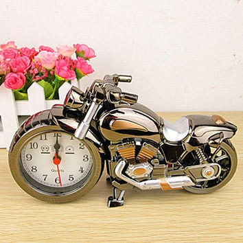Motorcycle Alarm Clock Retro
