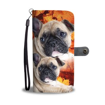 Cute French Bulldog Puppy Wallet Case- Free Shipping