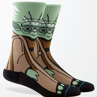 Stance - Disney Star Wars Yoda Crew Socks - Mens Socks - Green - One
