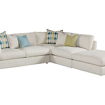 Cindy Crawford Home Crosby Street Left 3 Pc Sectional