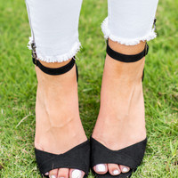 Keep It Going Wedge Sandals, Black