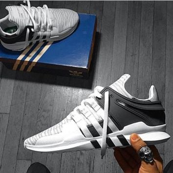 Adidas EQT Black White Support Boost Contrast Fashion Men Running Sport Casual Shoes Sneakers