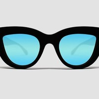 Quay Kitti Black / Blue Mirror Sunglasses