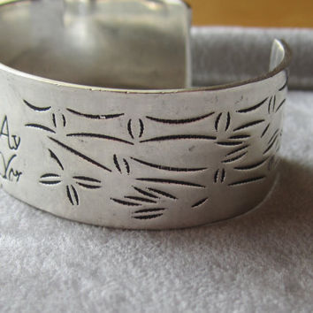Vintage Sterling Silver Cuff Bracelet Stamped Tiffany & Co