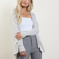 With Love Side Slit Cardigan