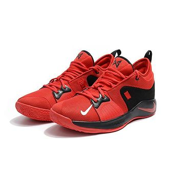 nike zoom pg 2 ep red black basketball shoes us 7-12