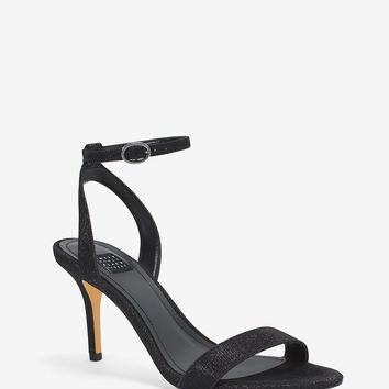 White House Black Market Black Strappy Heels