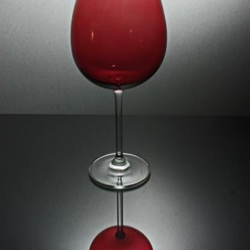 Lenox Crystal Red Balloon Wine Glass