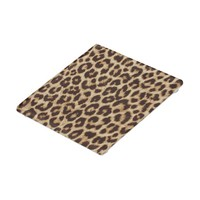 Leopard Print Glass Coaster