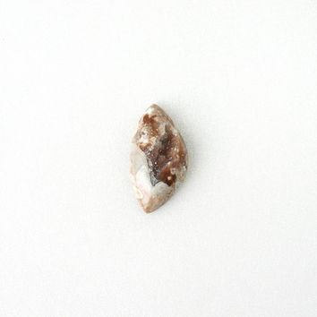 Natural Tea Brown Druzy Geode Crystal Gemstone, Asymmetrical Undrilled 21x40mm, Unique Crystal Quartz