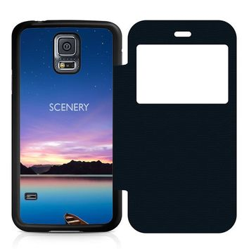 Beautiful Scenery Leather Wallet Flip Case Samsung Galaxy S5