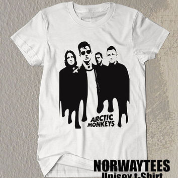 Arctic Monkeys Shirt The Arctic Monkeys Band Symbol Printed on White t-Shirt For Men Or Women Size TS 60