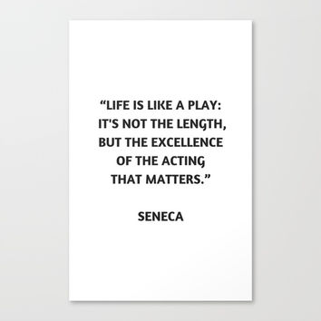 Stoic Philosophy Quote - Seneca Canvas Print by Love from Sophie