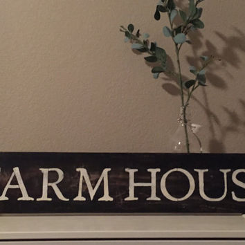 Shabby Chic Custom Signs FARMHOUSE SIGN | kitchen sign |Distressed farmhouse sign |Farmhouse decor signs | Farm sign | Rustic signs | Fixer