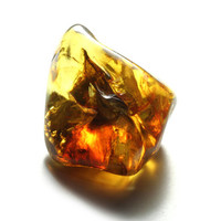 Beautiful Baltic Amber, big amber nugget, fully transparent amber piece