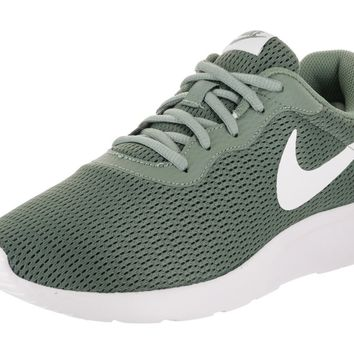 NIKE Men's Tanjun Running Sneaker Clay Green/White 12