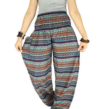 Elephant pants Hippie pants Unisex boho Gypsy pants Thai pants Hippie clothes Palazzo pants Harem pants Elephant clothes