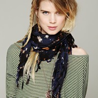 Free People Plaid Washed Bleach Scarf