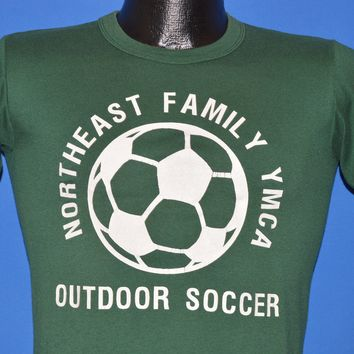 80s Northeast Family YMCA Soccer t-shirt Youth Medium