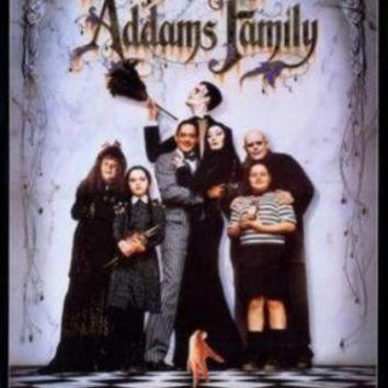 Addams Family movie poster Sign 8in x 12in
