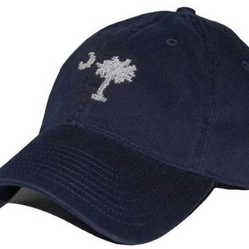 South Carolina Needlepoint Hat in Navy by Smathers & Branson