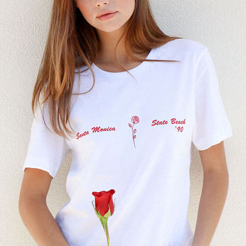 Santa Monica State Beach '90 Cropped Tee