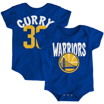 Infant Golden State Warriors Stephen Curry Royal Name & Number Creeper