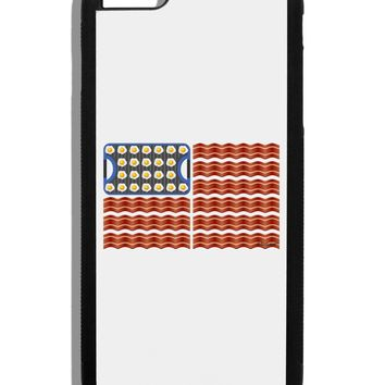 American Breakfast Flag - Bacon and Eggs Black Dauphin iPhone 6 Plus Cover by TooLoud