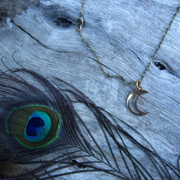 Moon Necklace by SaintEveJewelry on Etsy