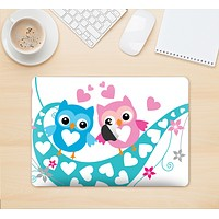 "The Pink & Blue Vector Love Birds Skin Kit for the 12"" Apple MacBook"