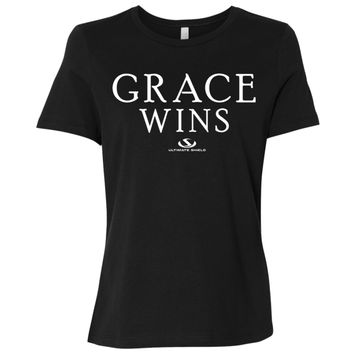 GRACE WINS Ladies' Relaxed Jersey Short-Sleeve T-Shirt