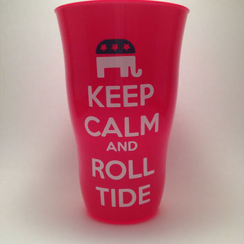 Stay Calm and Roll Tide Cup by loveofsimple on Etsy