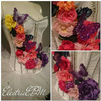 Flower heaven rave corset (size -extra small)