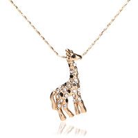 Giraffe Necklace (18k Gold Plated Rhinestone)