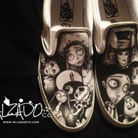 Tim Burton shoes. Johnny Depp, Edward Scissorhands, Corpse Bride, Nightmare before christmas