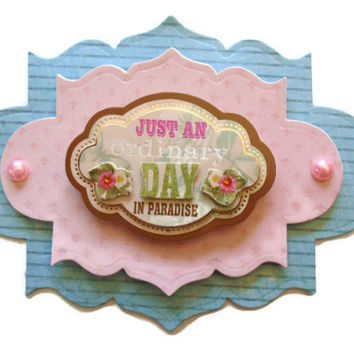Scrapbook Embellishment, Love, handmade 3D,  gift tags, Scrapbook Layouts Cards, Mini Albums, smash book, Paper Crafts