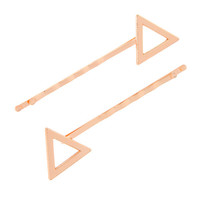 Rose Gold Triangle Bobby Pins Set of 2