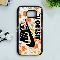 Flowers Nike Just Do It Samsung Galaxy S7 Edge Case | armeyla.com