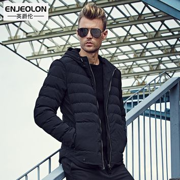 Winter Cotton Padded Hooded windproof Jacket Men Parka Clothing Thick Quilted Coat Men Hoodies