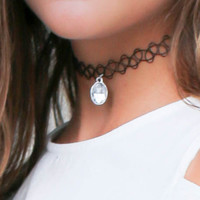No Scrubs Silver & Gold Round Pendant Chokers
